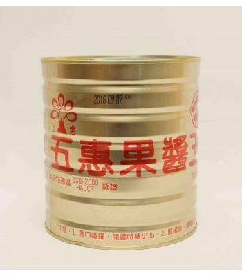 H01012-五惠草莓醬3kg/桶