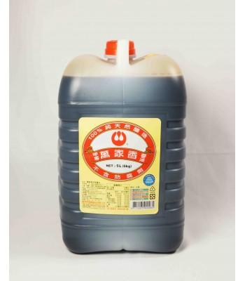 H02141-萬家香甲等醬油清6kg/桶
